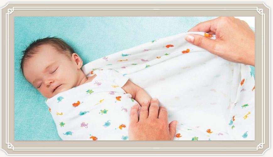 Как правильно пеленать новорожденного в картинках пошагово